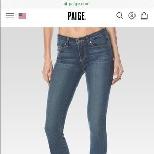 Paige Verdugo Extra Skinny jeans size 27